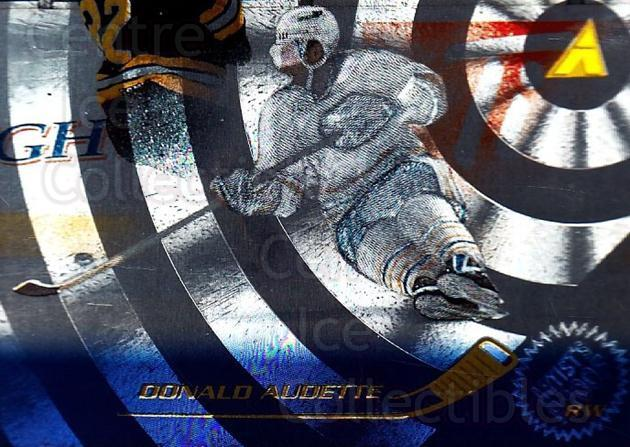 1995-96 Pinnacle Artists Proofs #104 Donald Audette<br/>2 In Stock - $5.00 each - <a href=https://centericecollectibles.foxycart.com/cart?name=1995-96%20Pinnacle%20Artists%20Proofs%20%23104%20Donald%20Audette...&quantity_max=2&price=$5.00&code=339379 class=foxycart> Buy it now! </a>