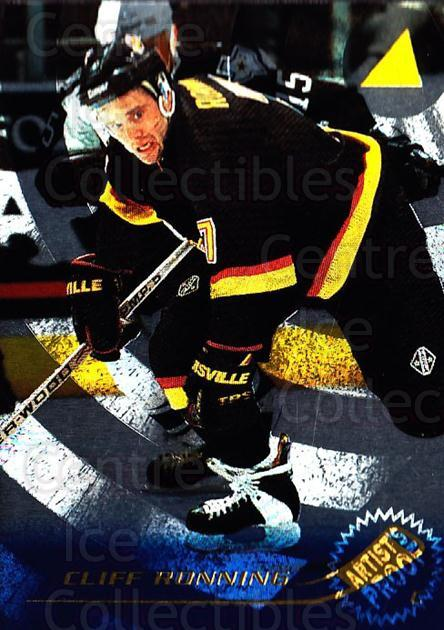 1995-96 Pinnacle Artists Proofs #184 Cliff Ronning<br/>2 In Stock - $5.00 each - <a href=https://centericecollectibles.foxycart.com/cart?name=1995-96%20Pinnacle%20Artists%20Proofs%20%23184%20Cliff%20Ronning...&quantity_max=2&price=$5.00&code=339463 class=foxycart> Buy it now! </a>