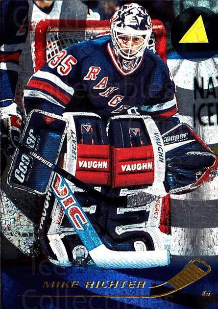 1995-96 Pinnacle Rink Collection #47 Mike Richter<br/>2 In Stock - $2.00 each - <a href=https://centericecollectibles.foxycart.com/cart?name=1995-96%20Pinnacle%20Rink%20Collection%20%2347%20Mike%20Richter...&quantity_max=2&price=$2.00&code=339651 class=foxycart> Buy it now! </a>