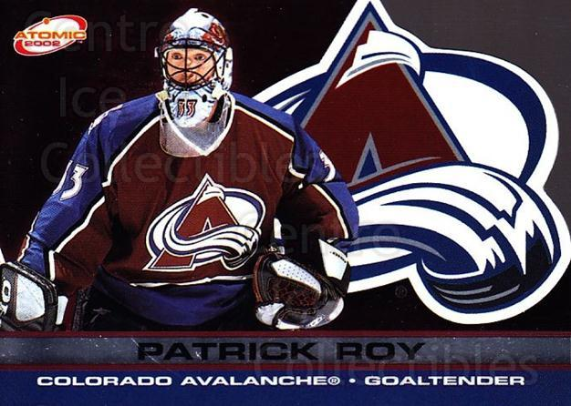 2001-02 Atomic #26 Patrick Roy<br/>5 In Stock - $5.00 each - <a href=https://centericecollectibles.foxycart.com/cart?name=2001-02%20Atomic%20%2326%20Patrick%20Roy...&quantity_max=5&price=$5.00&code=339747 class=foxycart> Buy it now! </a>
