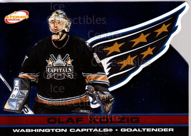 2001-02 Atomic Red #99 Olaf Kolzig<br/>4 In Stock - $3.00 each - <a href=https://centericecollectibles.foxycart.com/cart?name=2001-02%20Atomic%20Red%20%2399%20Olaf%20Kolzig...&quantity_max=4&price=$3.00&code=339892 class=foxycart> Buy it now! </a>