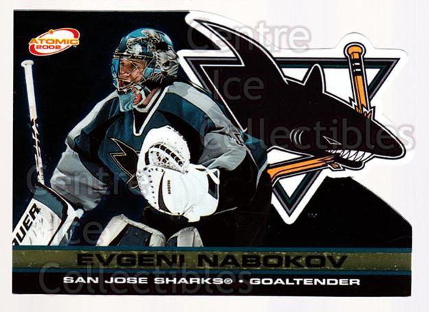 2001-02 Atomic Gold #85 Evgeni Nabokov<br/>1 In Stock - $3.00 each - <a href=https://centericecollectibles.foxycart.com/cart?name=2001-02%20Atomic%20Gold%20%2385%20Evgeni%20Nabokov...&quantity_max=1&price=$3.00&code=340003 class=foxycart> Buy it now! </a>