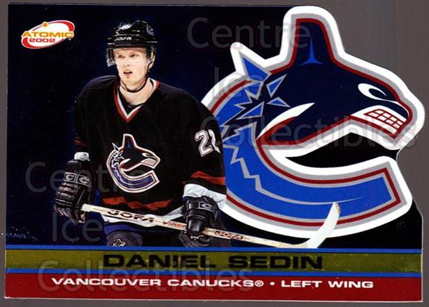 2001-02 Atomic Gold #95 Daniel Sedin<br/>1 In Stock - $3.00 each - <a href=https://centericecollectibles.foxycart.com/cart?name=2001-02%20Atomic%20Gold%20%2395%20Daniel%20Sedin...&price=$3.00&code=340013 class=foxycart> Buy it now! </a>
