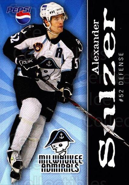 2007-08 Milwaukee Admirals Pepsi #22 Alexander Sulzer<br/>2 In Stock - $3.00 each - <a href=https://centericecollectibles.foxycart.com/cart?name=2007-08%20Milwaukee%20Admirals%20Pepsi%20%2322%20Alexander%20Sulze...&quantity_max=2&price=$3.00&code=340359 class=foxycart> Buy it now! </a>