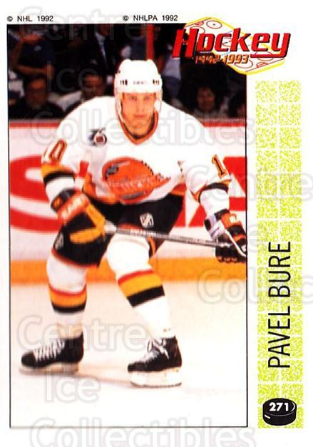 1992-93 Panini Stickers #271 Pavel Bure<br/>1 In Stock - $2.00 each - <a href=https://centericecollectibles.foxycart.com/cart?name=1992-93%20Panini%20Stickers%20%23271%20Pavel%20Bure...&quantity_max=1&price=$2.00&code=340466 class=foxycart> Buy it now! </a>