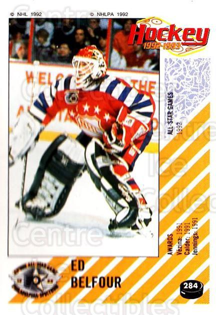 1992-93 Panini Stickers #284 Ed Belfour<br/>1 In Stock - $2.00 each - <a href=https://centericecollectibles.foxycart.com/cart?name=1992-93%20Panini%20Stickers%20%23284%20Ed%20Belfour...&price=$2.00&code=340469 class=foxycart> Buy it now! </a>