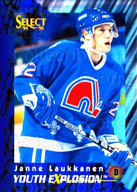 1994-95 Select Youth Explosion #3 Janne Laukkanen<br/>4 In Stock - $2.00 each - <a href=https://centericecollectibles.foxycart.com/cart?name=1994-95%20Select%20Youth%20Explosion%20%233%20Janne%20Laukkanen...&quantity_max=4&price=$2.00&code=34067 class=foxycart> Buy it now! </a>