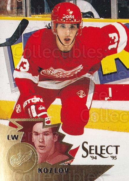 1994-95 Select #103 Vyacheslav Kozlov<br/>4 In Stock - $1.00 each - <a href=https://centericecollectibles.foxycart.com/cart?name=1994-95%20Select%20%23103%20Vyacheslav%20Kozl...&quantity_max=4&price=$1.00&code=34077 class=foxycart> Buy it now! </a>