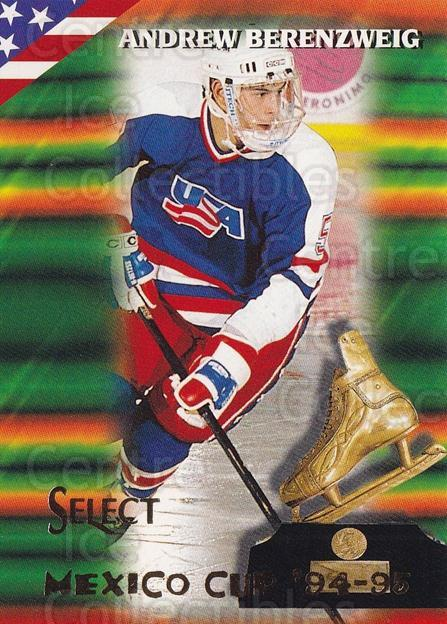 1994-95 Select #151 Andrew Berenzweig<br/>3 In Stock - $1.00 each - <a href=https://centericecollectibles.foxycart.com/cart?name=1994-95%20Select%20%23151%20Andrew%20Berenzwe...&quantity_max=3&price=$1.00&code=34129 class=foxycart> Buy it now! </a>