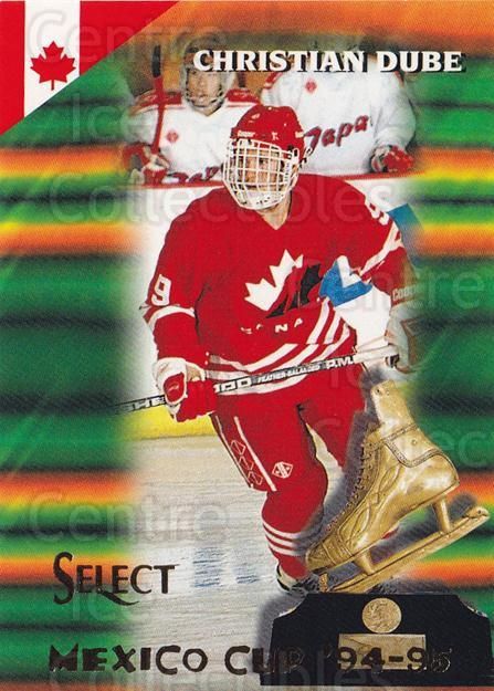 1994-95 Select #166 Christian Dube<br/>4 In Stock - $1.00 each - <a href=https://centericecollectibles.foxycart.com/cart?name=1994-95%20Select%20%23166%20Christian%20Dube...&quantity_max=4&price=$1.00&code=34143 class=foxycart> Buy it now! </a>