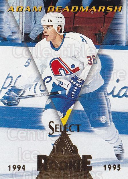 1994-95 Select #179 Adam Deadmarsh<br/>3 In Stock - $1.00 each - <a href=https://centericecollectibles.foxycart.com/cart?name=1994-95%20Select%20%23179%20Adam%20Deadmarsh...&quantity_max=3&price=$1.00&code=34157 class=foxycart> Buy it now! </a>
