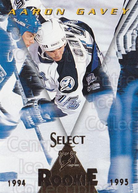 1994-95 Select #180 Aaron Gavey<br/>3 In Stock - $1.00 each - <a href=https://centericecollectibles.foxycart.com/cart?name=1994-95%20Select%20%23180%20Aaron%20Gavey...&quantity_max=3&price=$1.00&code=34158 class=foxycart> Buy it now! </a>