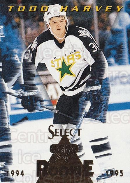 1994-95 Select #182 Todd Harvey<br/>4 In Stock - $1.00 each - <a href=https://centericecollectibles.foxycart.com/cart?name=1994-95%20Select%20%23182%20Todd%20Harvey...&quantity_max=4&price=$1.00&code=34160 class=foxycart> Buy it now! </a>