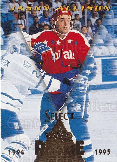 1994-95 Select #193 Jason Allison<br/>4 In Stock - $1.00 each - <a href=https://centericecollectibles.foxycart.com/cart?name=1994-95%20Select%20%23193%20Jason%20Allison...&quantity_max=4&price=$1.00&code=34171 class=foxycart> Buy it now! </a>