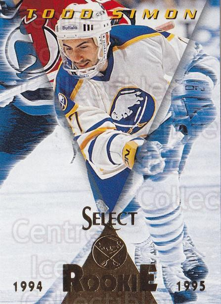 1994-95 Select #195 Todd Simon<br/>1 In Stock - $1.00 each - <a href=https://centericecollectibles.foxycart.com/cart?name=1994-95%20Select%20%23195%20Todd%20Simon...&quantity_max=1&price=$1.00&code=34173 class=foxycart> Buy it now! </a>