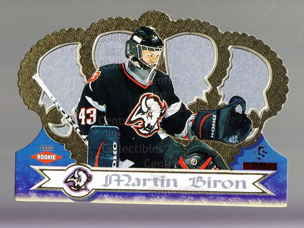 1999-00 Crown Royale Limited Series #17 Martin Biron<br/>1 In Stock - $5.00 each - <a href=https://centericecollectibles.foxycart.com/cart?name=1999-00%20Crown%20Royale%20Limited%20Series%20%2317%20Martin%20Biron...&quantity_max=1&price=$5.00&code=342137 class=foxycart> Buy it now! </a>