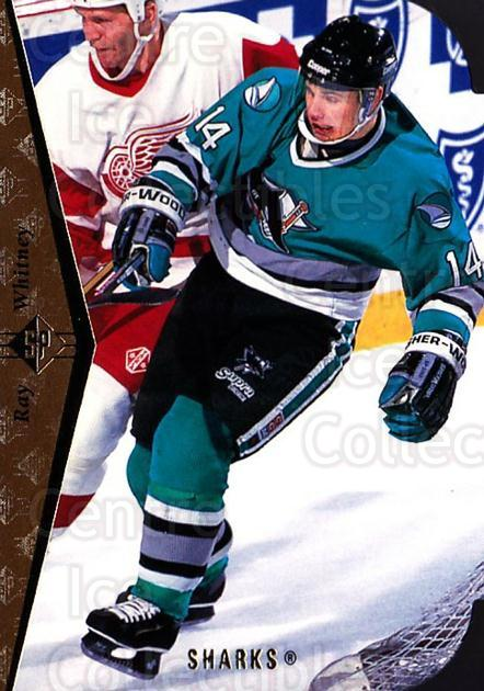 1994-95 SP Die Cuts #106 Ray Whitney<br/>5 In Stock - $2.00 each - <a href=https://centericecollectibles.foxycart.com/cart?name=1994-95%20SP%20Die%20Cuts%20%23106%20Ray%20Whitney...&quantity_max=5&price=$2.00&code=34229 class=foxycart> Buy it now! </a>