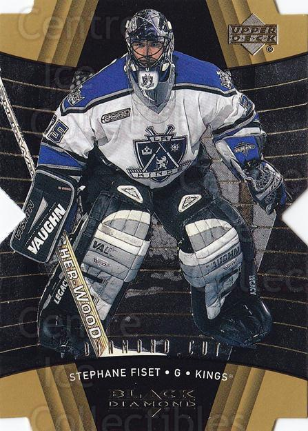 1999-00 Black Diamond Cut #46 Stephane Fiset<br/>5 In Stock - $2.00 each - <a href=https://centericecollectibles.foxycart.com/cart?name=1999-00%20Black%20Diamond%20Cut%20%2346%20Stephane%20Fiset...&quantity_max=5&price=$2.00&code=342443 class=foxycart> Buy it now! </a>