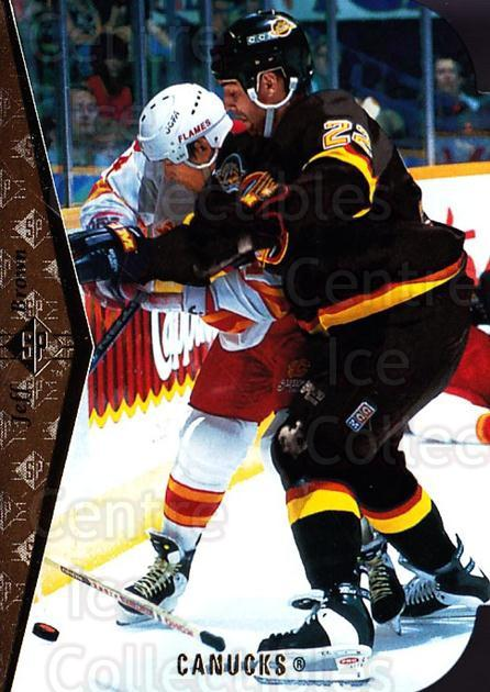 1994-95 SP Die Cuts #123 Jeff Brown<br/>15 In Stock - $2.00 each - <a href=https://centericecollectibles.foxycart.com/cart?name=1994-95%20SP%20Die%20Cuts%20%23123%20Jeff%20Brown...&quantity_max=15&price=$2.00&code=34247 class=foxycart> Buy it now! </a>