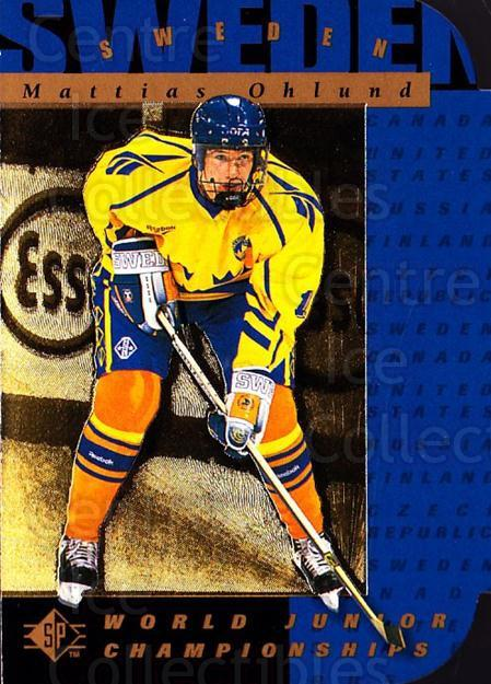1994-95 SP Die Cuts #172 Mattias Ohlund<br/>8 In Stock - $2.00 each - <a href=https://centericecollectibles.foxycart.com/cart?name=1994-95%20SP%20Die%20Cuts%20%23172%20Mattias%20Ohlund...&quantity_max=8&price=$2.00&code=34300 class=foxycart> Buy it now! </a>
