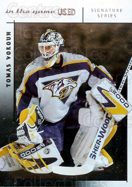 2003-04 ITG Used Signature Series #2 Tomas Vokoun<br/>6 In Stock - $3.00 each - <a href=https://centericecollectibles.foxycart.com/cart?name=2003-04%20ITG%20Used%20Signature%20Series%20%232%20Tomas%20Vokoun...&quantity_max=6&price=$3.00&code=343026 class=foxycart> Buy it now! </a>