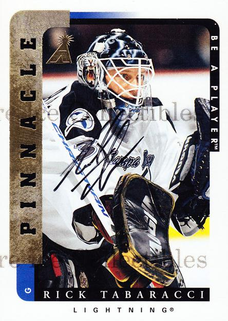 1996-97 Be A Player Auto #164 Rick Tabaracci<br/>1 In Stock - $5.00 each - <a href=https://centericecollectibles.foxycart.com/cart?name=1996-97%20Be%20A%20Player%20Auto%20%23164%20Rick%20Tabaracci...&price=$5.00&code=343796 class=foxycart> Buy it now! </a>