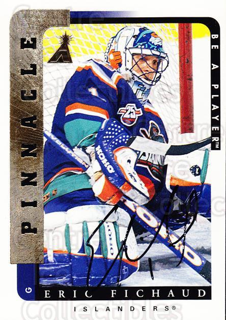1996-97 Be A Player Auto #214 Eric Fichaud<br/>4 In Stock - $5.00 each - <a href=https://centericecollectibles.foxycart.com/cart?name=1996-97%20Be%20A%20Player%20Auto%20%23214%20Eric%20Fichaud...&price=$5.00&code=343843 class=foxycart> Buy it now! </a>