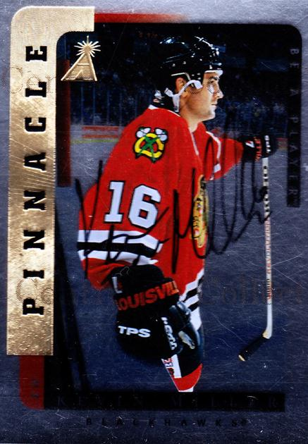 1996-97 Be A Player Auto Silver #165 Kevin Miller<br/>3 In Stock - $5.00 each - <a href=https://centericecollectibles.foxycart.com/cart?name=1996-97%20Be%20A%20Player%20Auto%20Silver%20%23165%20Kevin%20Miller...&quantity_max=3&price=$5.00&code=344017 class=foxycart> Buy it now! </a>