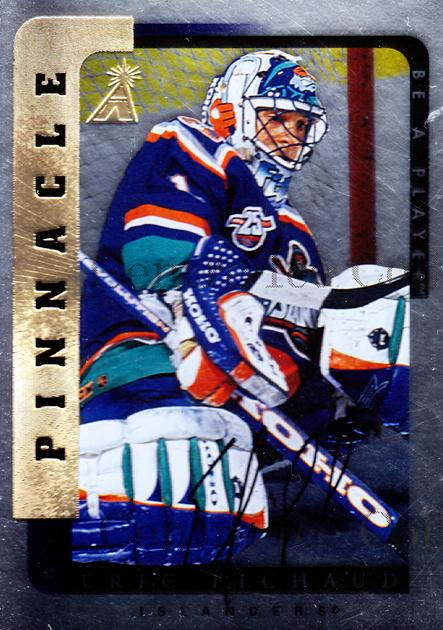 1996-97 Be A Player Auto Silver #214 Eric Fichaud<br/>2 In Stock - $5.00 each - <a href=https://centericecollectibles.foxycart.com/cart?name=1996-97%20Be%20A%20Player%20Auto%20Silver%20%23214%20Eric%20Fichaud...&price=$5.00&code=344063 class=foxycart> Buy it now! </a>