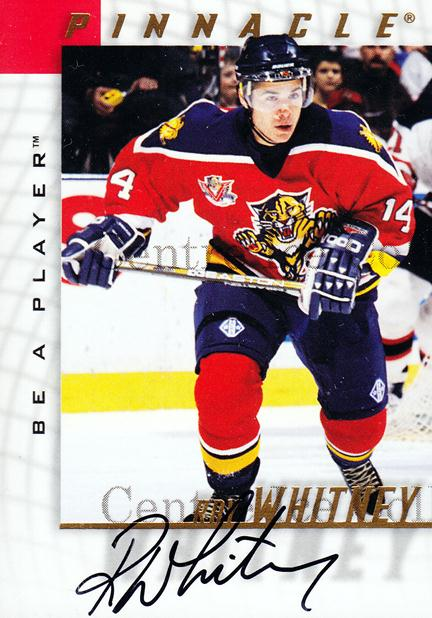 1997-98 Be A Player Auto #105 Ray Whitney<br/>1 In Stock - $3.00 each - <a href=https://centericecollectibles.foxycart.com/cart?name=1997-98%20Be%20A%20Player%20Auto%20%23105%20Ray%20Whitney...&quantity_max=1&price=$3.00&code=344183 class=foxycart> Buy it now! </a>