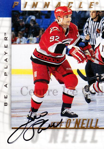 1997-98 Be A Player Auto #130 Jeff O'Neill<br/>1 In Stock - $3.00 each - <a href=https://centericecollectibles.foxycart.com/cart?name=1997-98%20Be%20A%20Player%20Auto%20%23130%20Jeff%20O'Neill...&quantity_max=1&price=$3.00&code=344211 class=foxycart> Buy it now! </a>