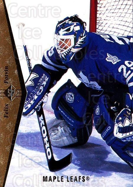 1994-95 SP #117 Felix Potvin<br/>2 In Stock - $1.00 each - <a href=https://centericecollectibles.foxycart.com/cart?name=1994-95%20SP%20%23117%20Felix%20Potvin...&quantity_max=2&price=$1.00&code=34421 class=foxycart> Buy it now! </a>