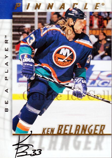 1997-98 Be A Player Auto #145 Ken Belanger<br/>1 In Stock - $3.00 each - <a href=https://centericecollectibles.foxycart.com/cart?name=1997-98%20Be%20A%20Player%20Auto%20%23145%20Ken%20Belanger...&quantity_max=1&price=$3.00&code=344227 class=foxycart> Buy it now! </a>