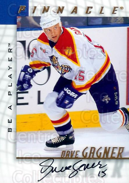 1997-98 Be A Player Auto #174 Dave Gagner<br/>3 In Stock - $3.00 each - <a href=https://centericecollectibles.foxycart.com/cart?name=1997-98%20Be%20A%20Player%20Auto%20%23174%20Dave%20Gagner...&quantity_max=3&price=$3.00&code=344258 class=foxycart> Buy it now! </a>