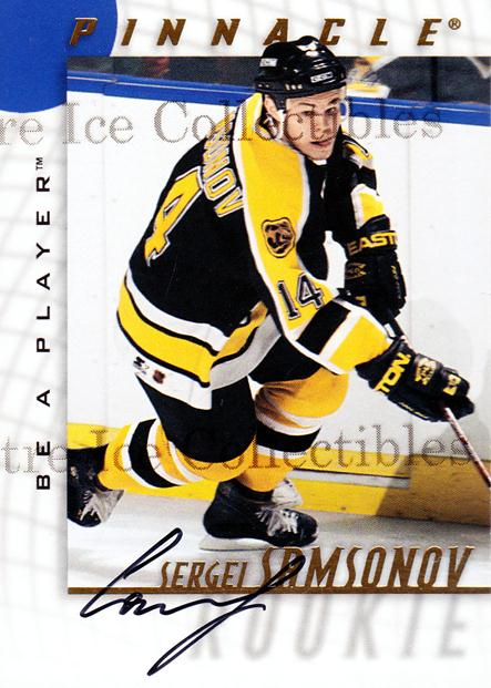 1997-98 Be A Player Auto #220 Sergei Samsonov<br/>1 In Stock - $5.00 each - <a href=https://centericecollectibles.foxycart.com/cart?name=1997-98%20Be%20A%20Player%20Auto%20%23220%20Sergei%20Samsonov...&quantity_max=1&price=$5.00&code=344306 class=foxycart> Buy it now! </a>