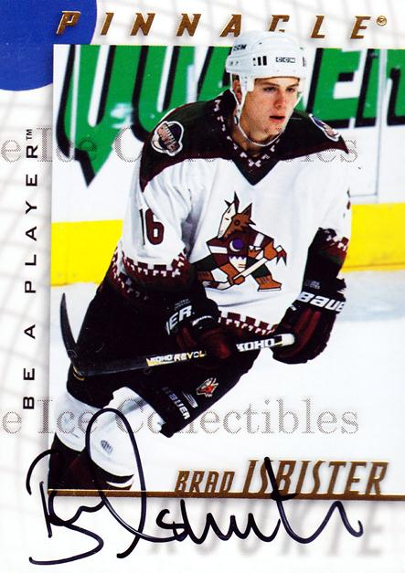 1997-98 Be A Player Auto #226 Brad Isbister<br/>2 In Stock - $3.00 each - <a href=https://centericecollectibles.foxycart.com/cart?name=1997-98%20Be%20A%20Player%20Auto%20%23226%20Brad%20Isbister...&quantity_max=2&price=$3.00&code=344312 class=foxycart> Buy it now! </a>