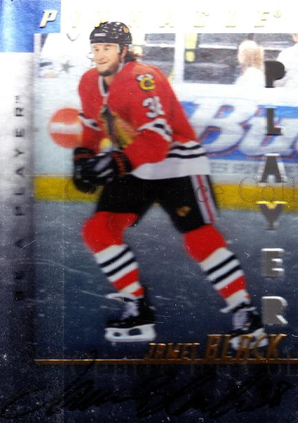 1997-98 Be A Player Auto Die Cut #186 James Black<br/>2 In Stock - $5.00 each - <a href=https://centericecollectibles.foxycart.com/cart?name=1997-98%20Be%20A%20Player%20Auto%20Die%20Cut%20%23186%20James%20Black...&price=$5.00&code=344520 class=foxycart> Buy it now! </a>