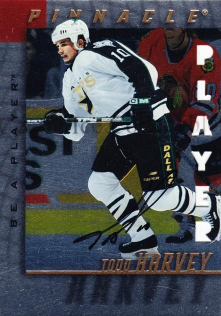 1997-98 Be A Player Auto Die Cut #96 Todd Harvey<br/>1 In Stock - $5.00 each - <a href=https://centericecollectibles.foxycart.com/cart?name=1997-98%20Be%20A%20Player%20Auto%20Die%20Cut%20%2396%20Todd%20Harvey...&quantity_max=1&price=$5.00&code=344664 class=foxycart> Buy it now! </a>