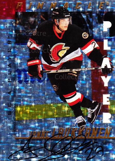 1997-98 Be A Player Auto Die Cut Prismatic #90 Janne Laukkanen<br/>1 In Stock - $5.00 each - <a href=https://centericecollectibles.foxycart.com/cart?name=1997-98%20Be%20A%20Player%20Auto%20Die%20Cut%20Prismatic%20%2390%20Janne%20Laukkanen...&quantity_max=1&price=$5.00&code=344908 class=foxycart> Buy it now! </a>