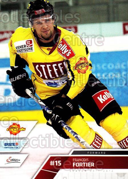 2011-12 Erste Bank Eishockey Liga EBEL #48 Francois Fortier<br/>5 In Stock - $2.00 each - <a href=https://centericecollectibles.foxycart.com/cart?name=2011-12%20Erste%20Bank%20Eishockey%20Liga%20EBEL%20%2348%20Francois%20Fortie...&quantity_max=5&price=$2.00&code=344973 class=foxycart> Buy it now! </a>