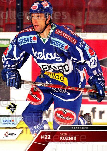 2011-12 Erste Bank Eishockey Liga EBEL #61 Greg Kuznik<br/>5 In Stock - $2.00 each - <a href=https://centericecollectibles.foxycart.com/cart?name=2011-12%20Erste%20Bank%20Eishockey%20Liga%20EBEL%20%2361%20Greg%20Kuznik...&quantity_max=5&price=$2.00&code=344986 class=foxycart> Buy it now! </a>