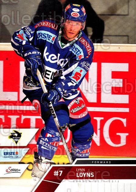 2011-12 Erste Bank Eishockey Liga EBEL #69 Lynn Loyns<br/>2 In Stock - $2.00 each - <a href=https://centericecollectibles.foxycart.com/cart?name=2011-12%20Erste%20Bank%20Eishockey%20Liga%20EBEL%20%2369%20Lynn%20Loyns...&quantity_max=2&price=$2.00&code=344994 class=foxycart> Buy it now! </a>
