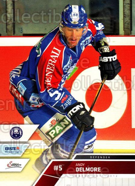 2011-12 Erste Bank Eishockey Liga EBEL #96 Andy Delmore<br/>3 In Stock - $2.00 each - <a href=https://centericecollectibles.foxycart.com/cart?name=2011-12%20Erste%20Bank%20Eishockey%20Liga%20EBEL%20%2396%20Andy%20Delmore...&quantity_max=3&price=$2.00&code=345021 class=foxycart> Buy it now! </a>