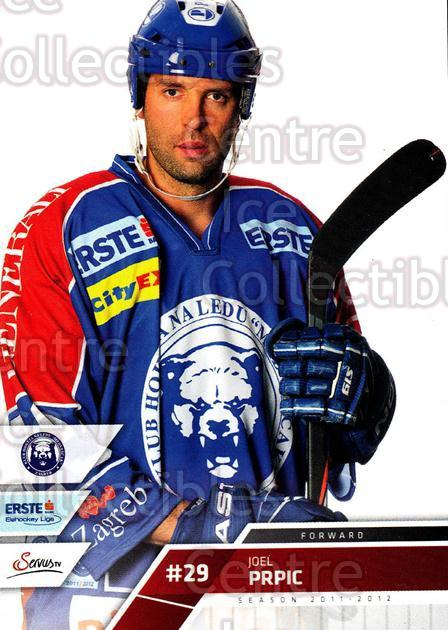 2011-12 Erste Bank Eishockey Liga EBEL #100 Joel Prpic<br/>1 In Stock - $2.00 each - <a href=https://centericecollectibles.foxycart.com/cart?name=2011-12%20Erste%20Bank%20Eishockey%20Liga%20EBEL%20%23100%20Joel%20Prpic...&quantity_max=1&price=$2.00&code=345025 class=foxycart> Buy it now! </a>