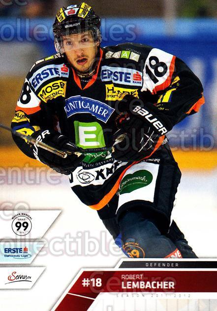 <a href=index.aspx?SetName=2011-12%20Erste%20Bank%20Eishockey%20Liga%20EBEL>2011-12 Erste Bank Eishockey Liga EBEL</a> #132 <a href=index.aspx?PlayerName=Robert%20Lembacher> Robert Lembacher</a><br/>4 in stock - $2.00 each - <a href=https://centericecollectibles.foxycart.com/cart?name=2011-12%20Erste%20Bank%20Eishockey%20Liga%20EBEL%20%23132%20Robert%20Lembache...&price=$2.00&code=345057 class=foxycart> Buy it now! </a>