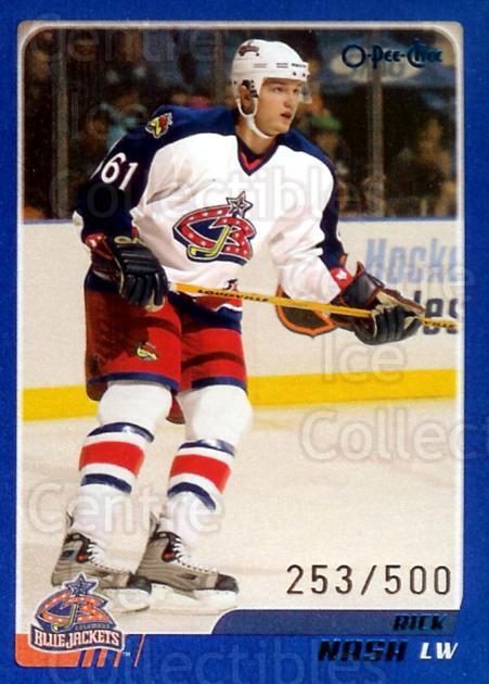 2003-04 O-pee-chee Blue #31 Rick Nash<br/>3 In Stock - $2.00 each - <a href=https://centericecollectibles.foxycart.com/cart?name=2003-04%20O-pee-chee%20Blue%20%2331%20Rick%20Nash...&quantity_max=3&price=$2.00&code=345428 class=foxycart> Buy it now! </a>