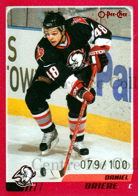 2003-04 O-pee-chee Red #68 Daniel Briere<br/>1 In Stock - $5.00 each - <a href=https://centericecollectibles.foxycart.com/cart?name=2003-04%20O-pee-chee%20Red%20%2368%20Daniel%20Briere...&quantity_max=1&price=$5.00&code=345805 class=foxycart> Buy it now! </a>