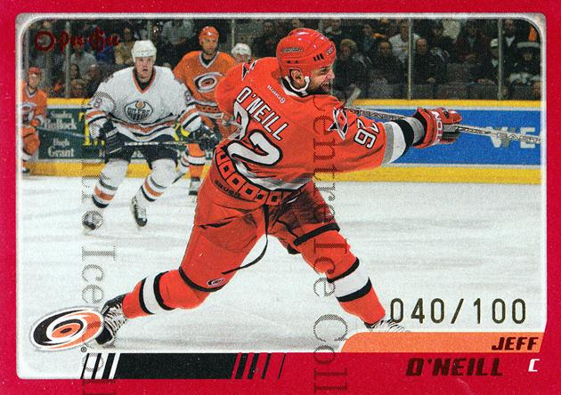 2003-04 O-pee-chee Red #116 Jeff O'Neill<br/>1 In Stock - $5.00 each - <a href=https://centericecollectibles.foxycart.com/cart?name=2003-04%20O-pee-chee%20Red%20%23116%20Jeff%20O'Neill...&quantity_max=1&price=$5.00&code=345853 class=foxycart> Buy it now! </a>