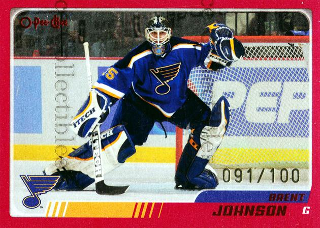 2003-04 O-pee-chee Red #149 Brent Johnson<br/>1 In Stock - $5.00 each - <a href=https://centericecollectibles.foxycart.com/cart?name=2003-04%20O-pee-chee%20Red%20%23149%20Brent%20Johnson...&quantity_max=1&price=$5.00&code=345886 class=foxycart> Buy it now! </a>