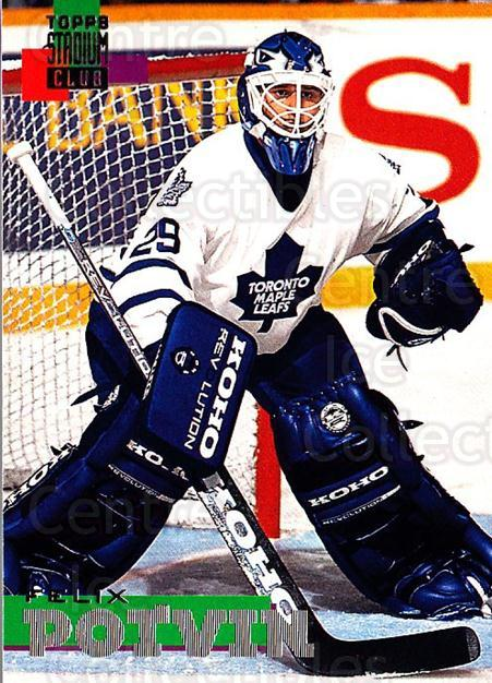 1994-95 Stadium Club #15 Felix Potvin<br/>3 In Stock - $1.00 each - <a href=https://centericecollectibles.foxycart.com/cart?name=1994-95%20Stadium%20Club%20%2315%20Felix%20Potvin...&quantity_max=3&price=$1.00&code=34803 class=foxycart> Buy it now! </a>